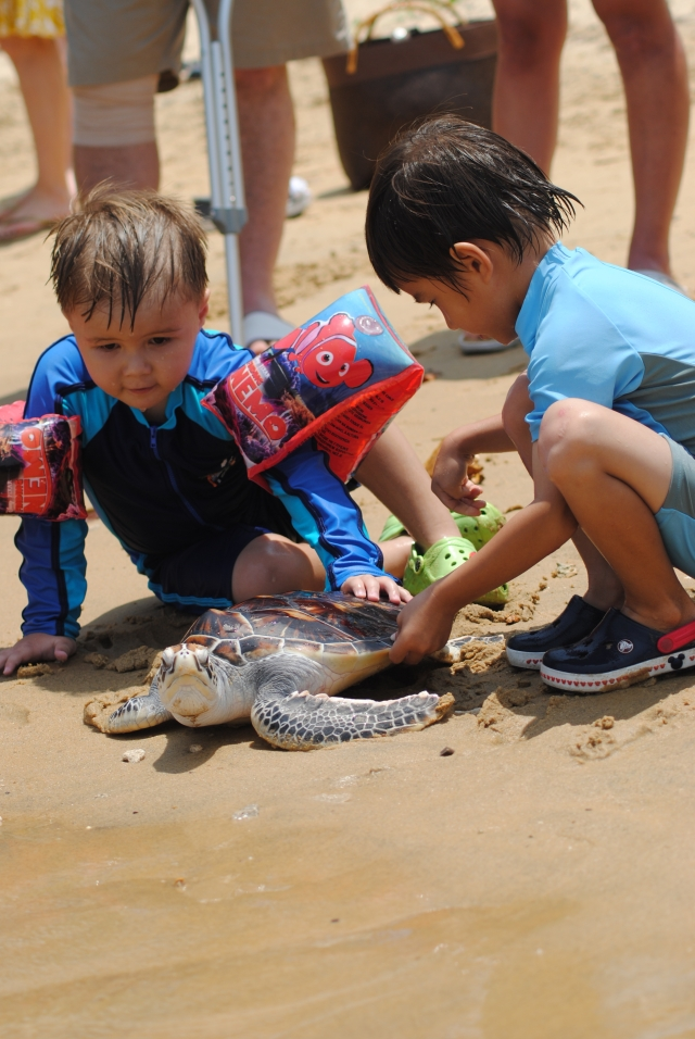 children_release_turtles_at_anantara_layan
