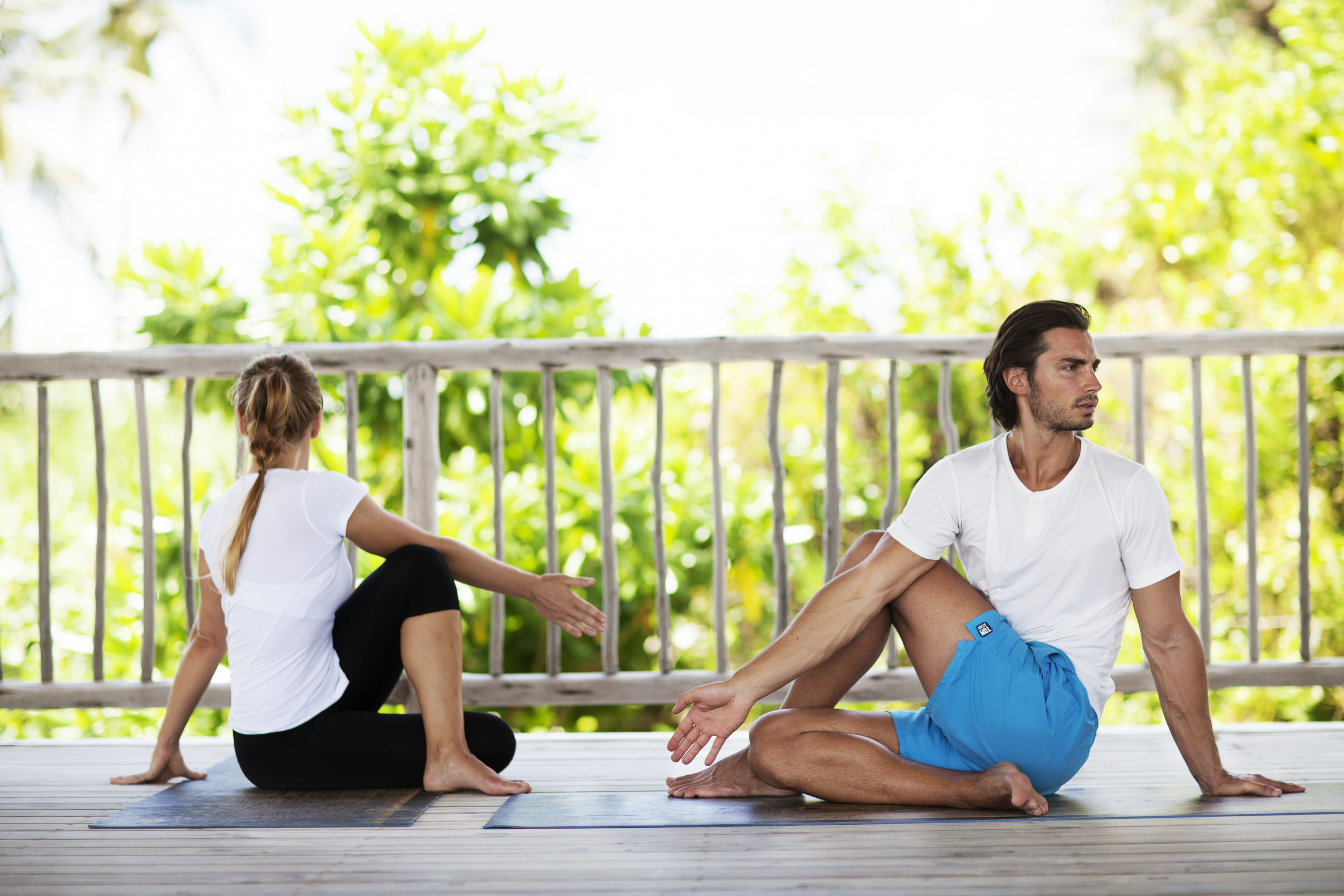 Six Senses yoga -- wellness day