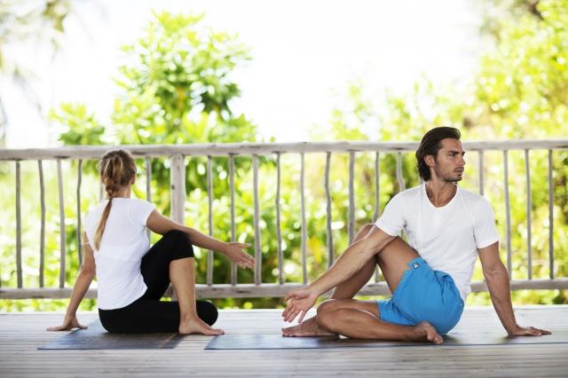 Six Senses yoga -- wellness day