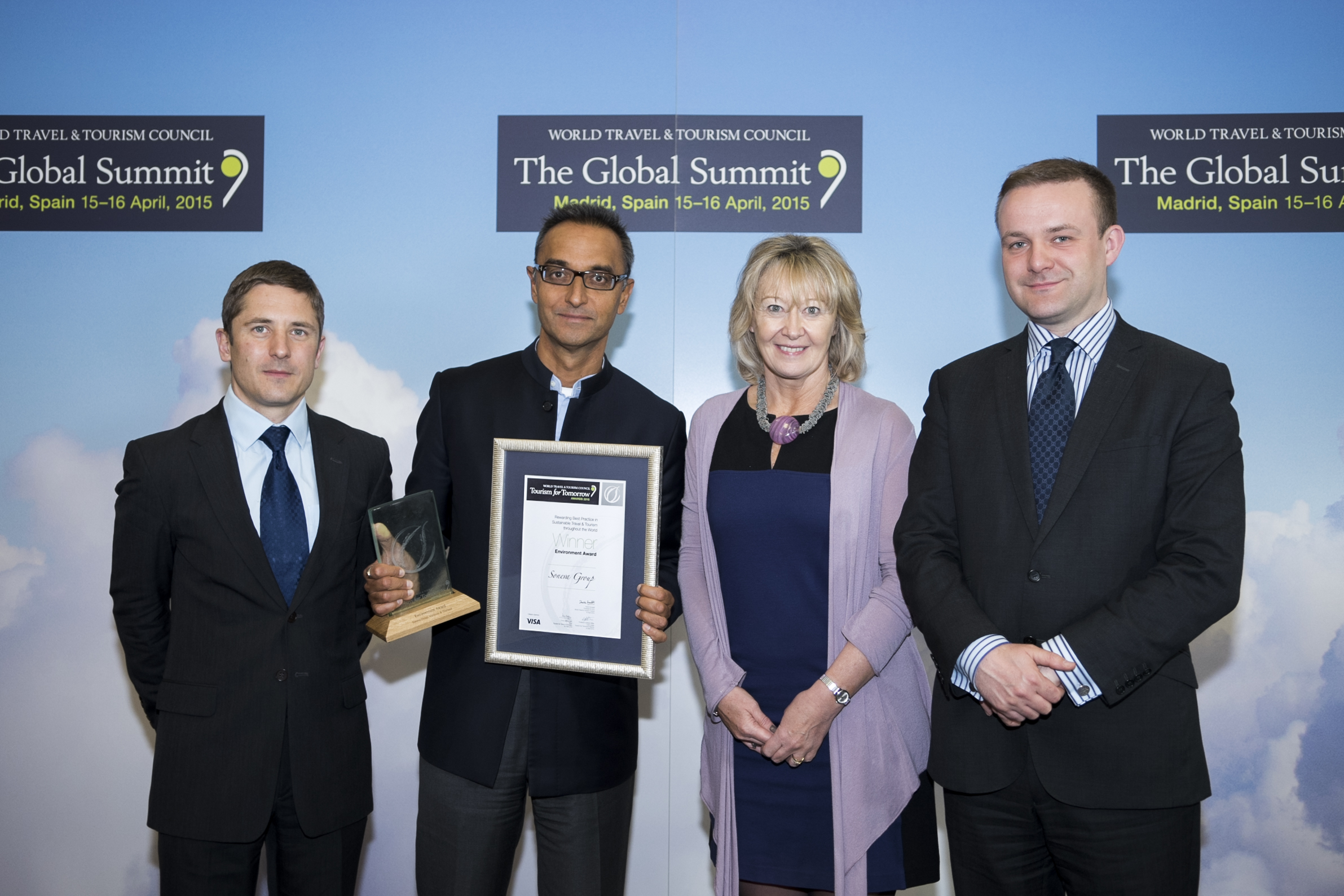Sonu Shivdasani of Soneva accepting WTTC award